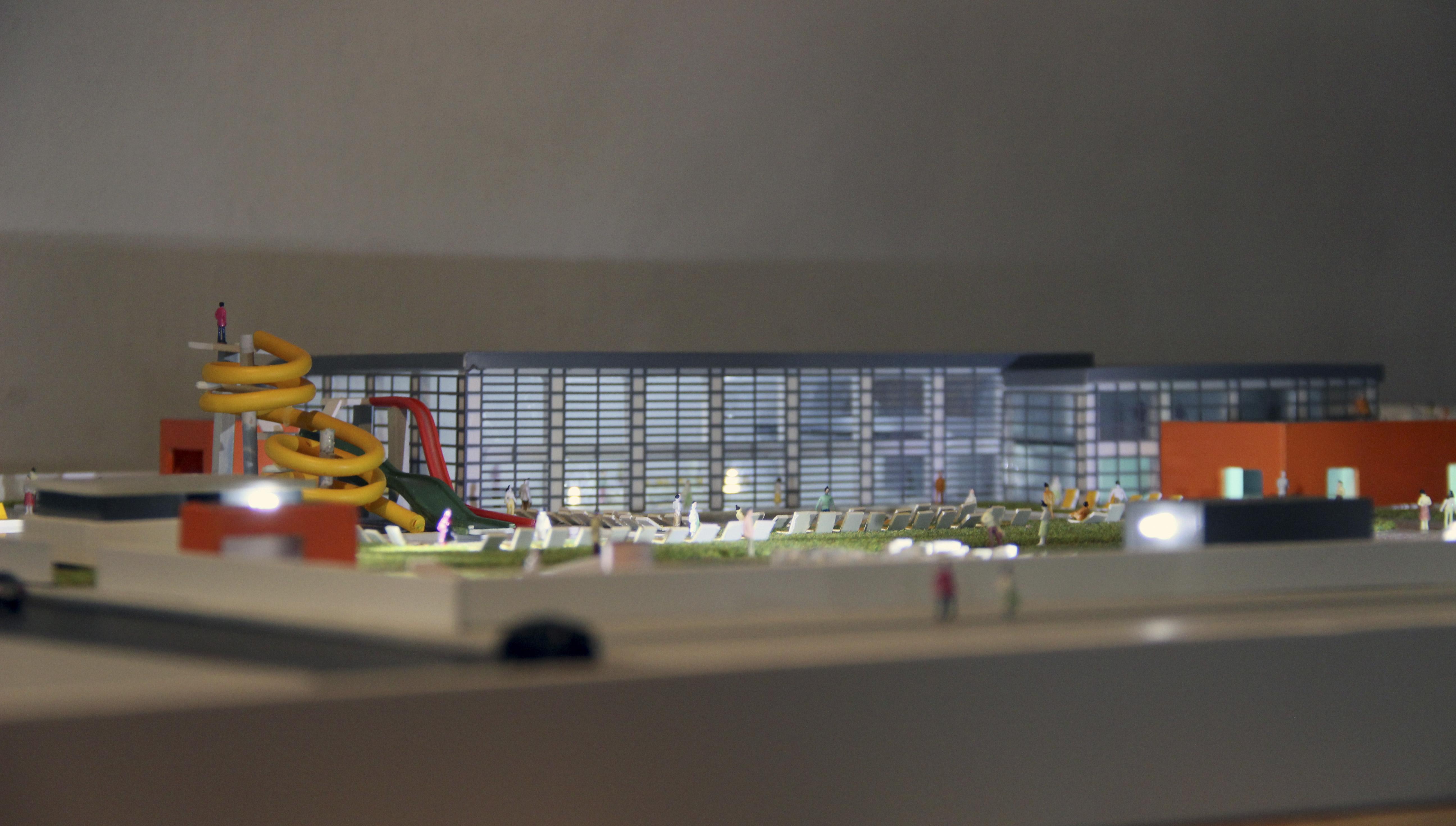 Præsentationsmodel Badeland Modelhuset