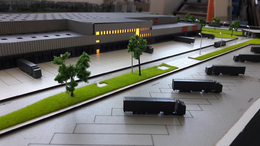 Præsentationsmodel Modelhus Lagerhal