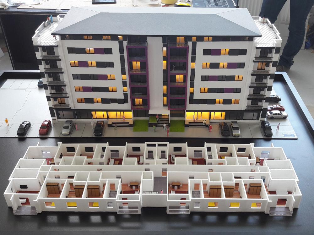 Præsentationsmodel Modelhus Hotel