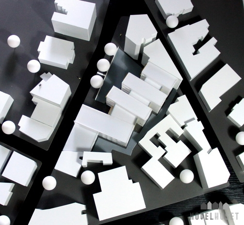 Arkitekturmodel Byfornyelse Arkitekttegnet Model Modelhuset